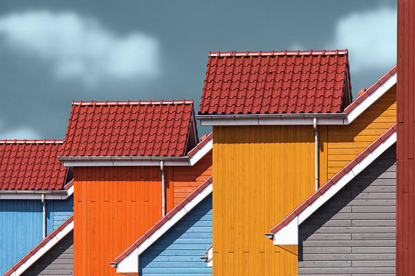Bricks Photograph - Roofs by Theo Luycx
