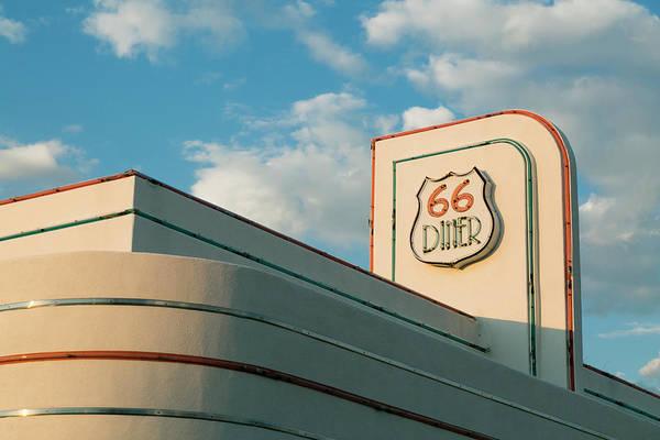 Wall Art - Photograph - Rooftop Of A Retro Diner, Albuquerque by Julien Mcroberts