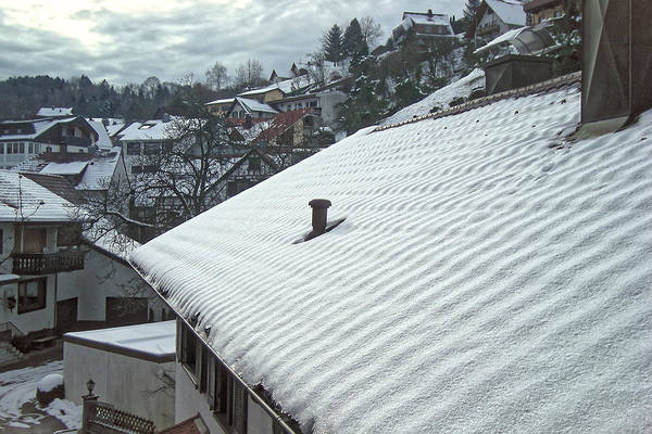 Photograph - Rooftop Snow - Buhlertal Germany by Lars Lentz
