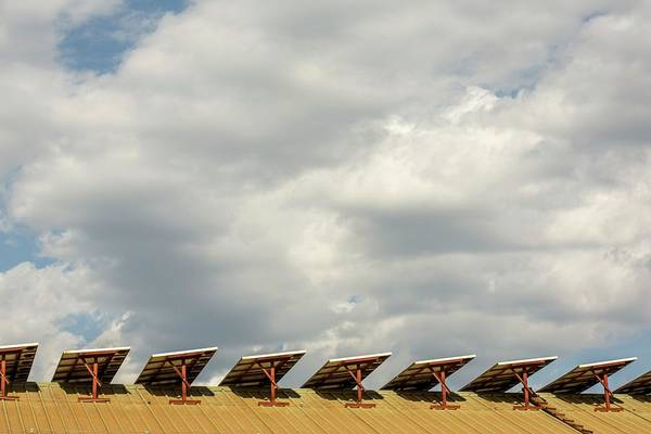 Solar Panels Photograph - Rooftop Solar Panels by Mauro Fermariello/science Photo Library