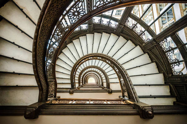 Franks Photograph - Rookery Building Oriel Staircase by Anthony Doudt
