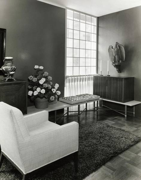 Photograph - Room Designed By John And Earline Brice by Tom Leonard