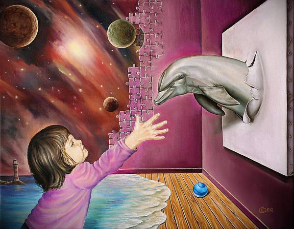 Magic Realism Painting - Room Of Dreams by Svetoslav Stoyanov