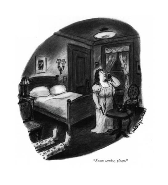 Murderer Drawing - Room Service by Whitney Darrow, Jr.