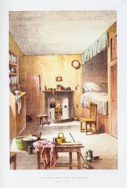Wall Art - Photograph - Room Where Livingstone Was Born by Gustoimages/science Photo Libbrary