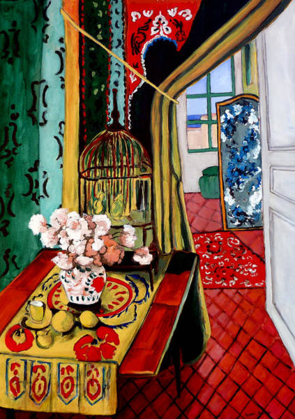 Painting - Room With A View After Matisse by Tom Roderick