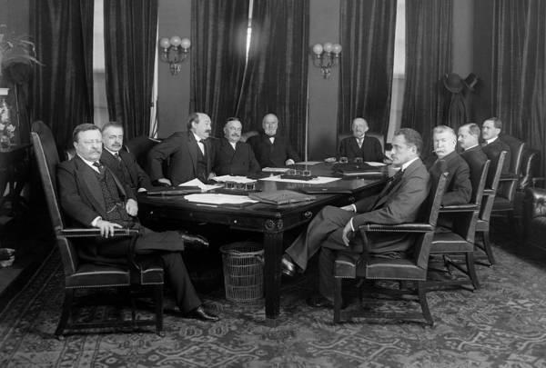 Wall Art - Photograph - Roosevelt Cabinet, C1905 by Granger