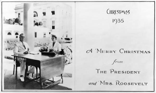 Wall Art - Photograph - Roosevelt Christmas Card by Granger