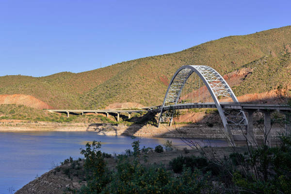Wall Art - Photograph - Roosevelt Lake Bridge Arizona by Christine Till