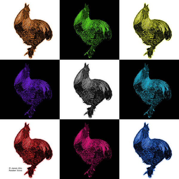 Painting - Rooster 3166 F M V2 by James Ahn