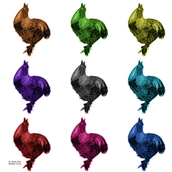 Painting - Rooster 3166 F M Wb by James Ahn