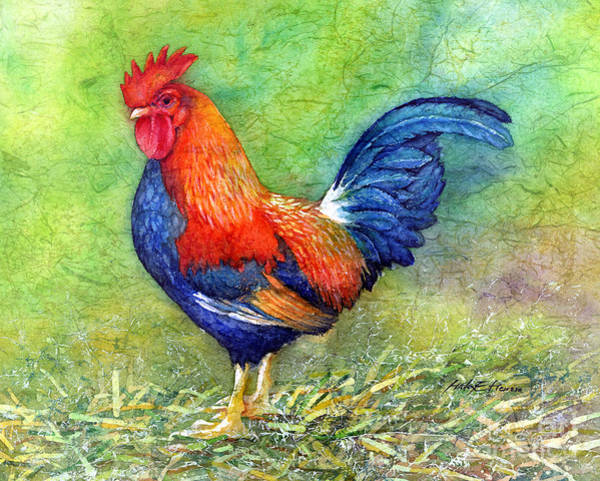 Barnyard Animal Painting - Rooster  by Hailey E Herrera