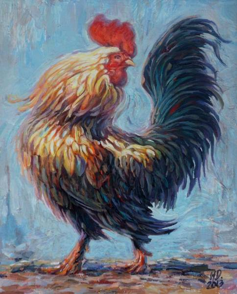 Painting - Rooster by Hans Droog