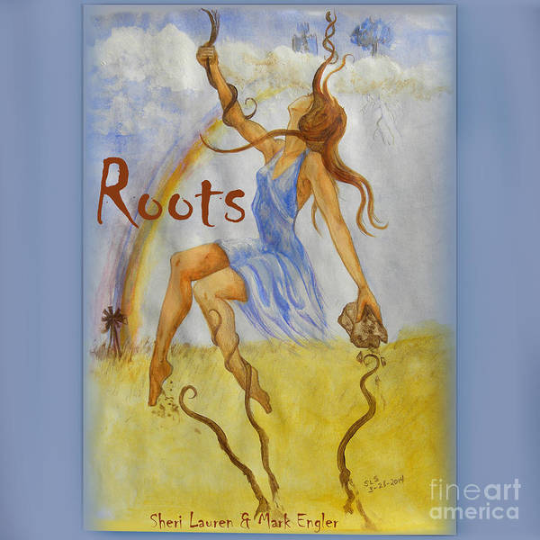 Cloud Cover Mixed Media - Roots Single Cover by Sheri Lauren