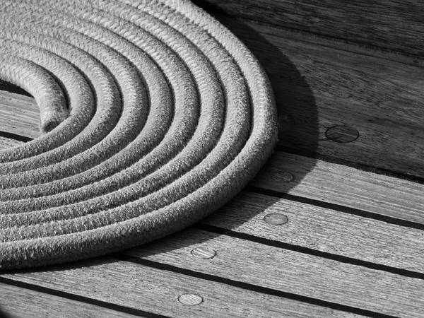 Rigging Photograph - Rope Coil by Tony Grider