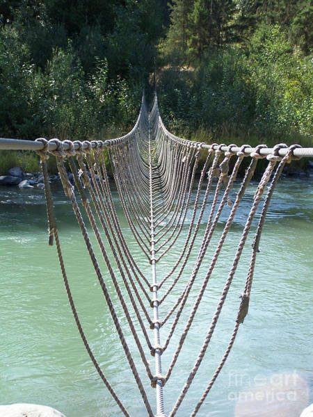 Photograph - Rope Foot Bridge by Ron Roberts