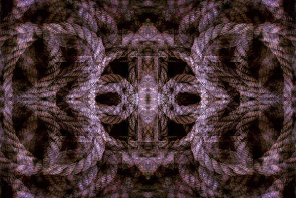 Digital Art - Rope Mantra 24 by Lynda Lehmann