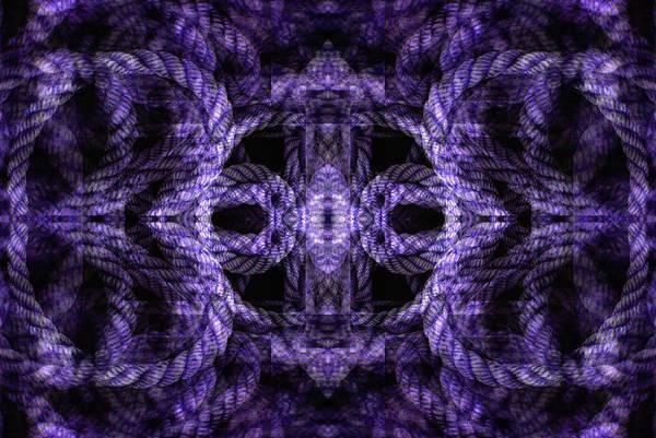 Digital Art - Rope Mantra 8 by Lynda Lehmann
