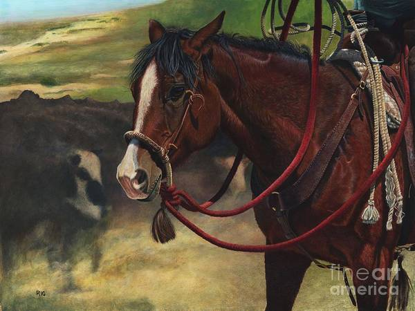 Painting - Rope Ready by Rosellen Westerhoff