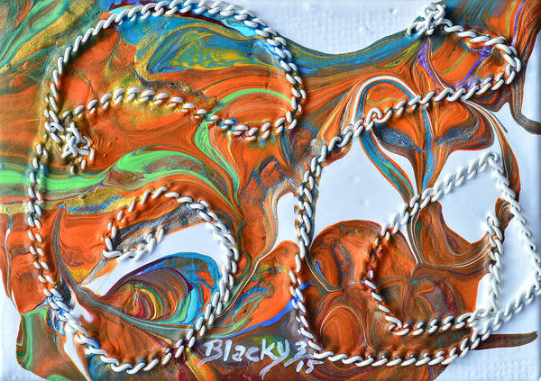 Wall Art - Mixed Media - Rope Trick by Donna Blackhall