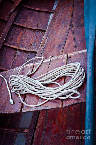 Photograph - Rope With Blue Oar by Silvia Ganora