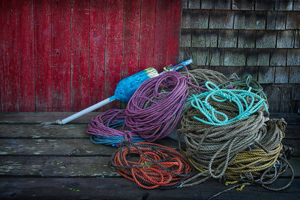 Photograph - Ropes And Buoy by Darylann Leonard Photography