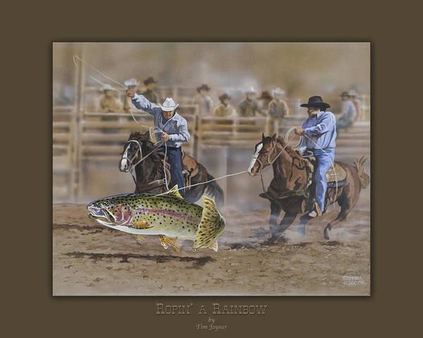Painting - Ropin A Rainbow by Tim  Joyner