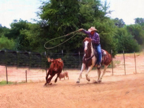 Painting - Roping by Dean Wittle