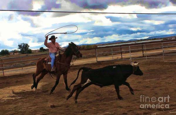 Norco Photograph - Roping by Tommy Anderson