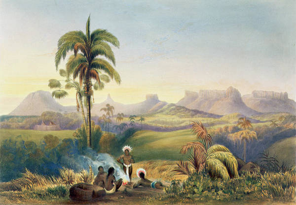 South Drawing - Roraima, A Remarkable Range by Charles Bentley
