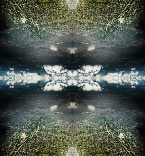 Suburbs Photograph - Rorschach Collage Of Dramatic Clouds by Silvia Otte