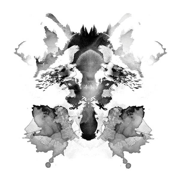 Tint Wall Art - Mixed Media - Rorschach by Robert Farkas