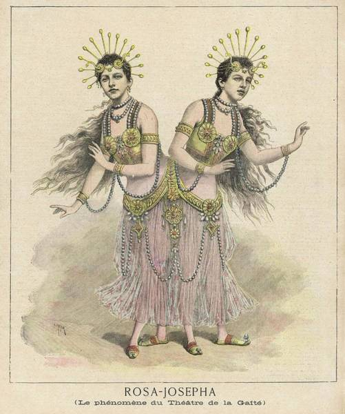 Wall Art - Drawing - Rosa And Josepha At The Theatre De La by Mary Evans Picture Library