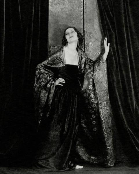 1921 Photograph - Rosalind Fuller Wearing A Dress And Cape by Francis Bruguiere