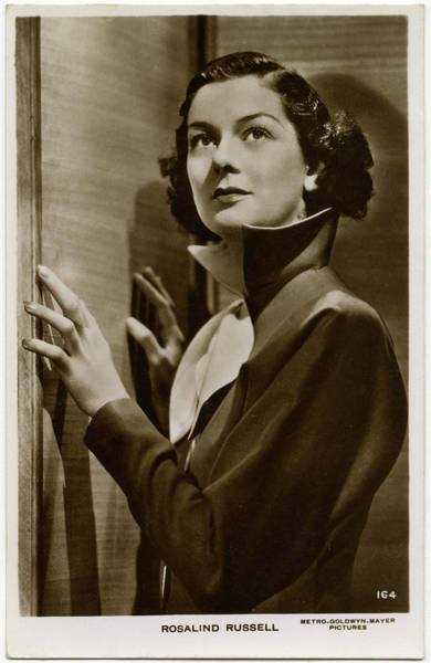 Wall Art - Photograph - Rosalind Russell (1907 - 1976) by Mary Evans Picture Library