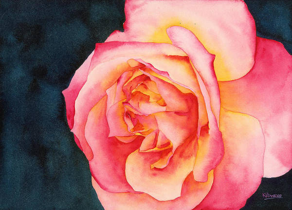 Painting - Rose Ablaze by Ken Powers