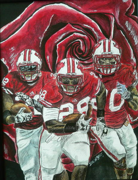 Painting - Rose Bowl Badgers by Dan Wagner