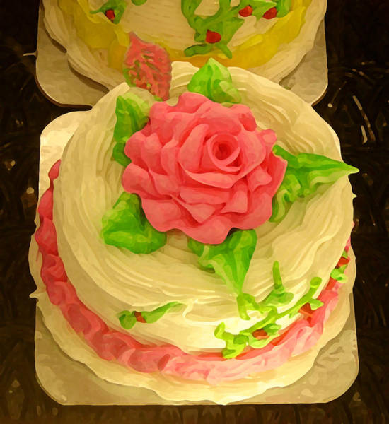 Icing Painting - Rose Cakes by Amy Vangsgard