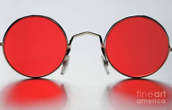 Primary Colors Photograph - Rose Colored Glasses by Dan Holm