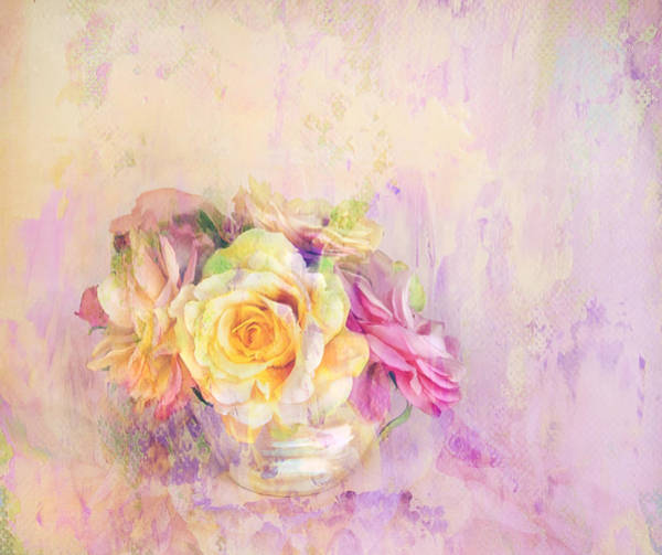 Impasto Photograph - Rose Dream by Theresa Tahara