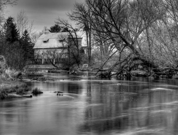Photograph - Rose Farm Black And White by Thomas Young