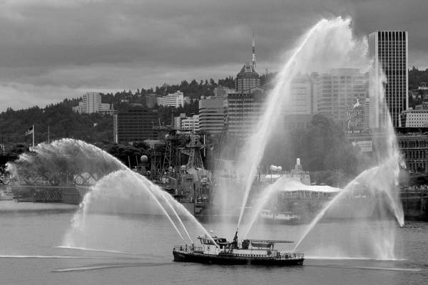 Photograph - Rose Festival Fire Boat by Wes and Dotty Weber