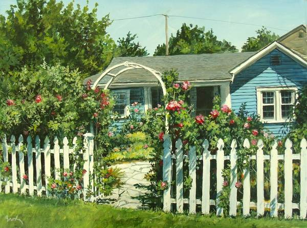 Painting - Rose Garden by William Brody