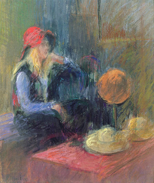 Millinery Photograph - Rose Hat, 2000 Pastel On Paper by Karen Armitage