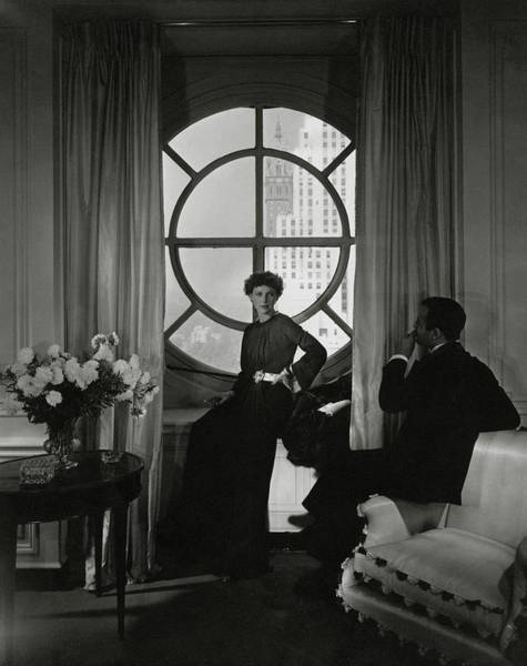Two People Photograph - Rose Hobart Standing By A Window by Edward Steichen