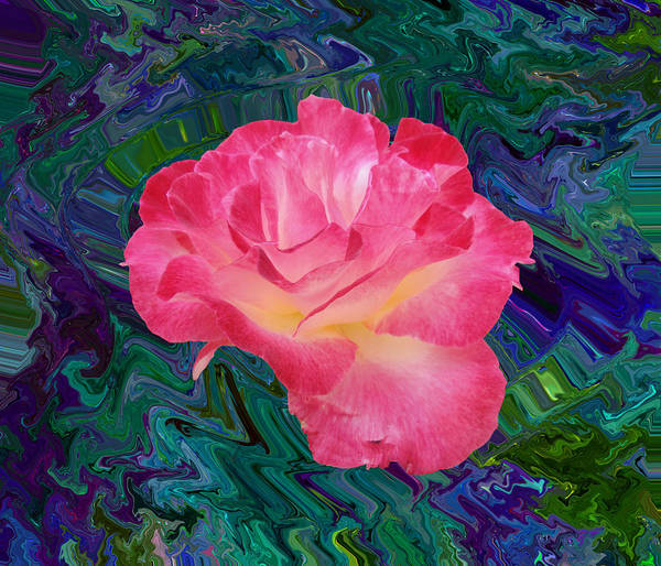 Rose In The Matter Of Your Hand V7 Art Print