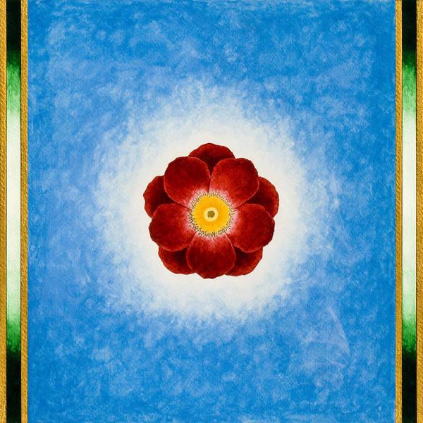 Painting - Rose On Blue by Lee Santa