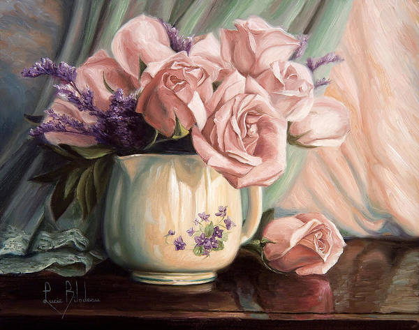 Painting - Rose Roses by Lucie Bilodeau