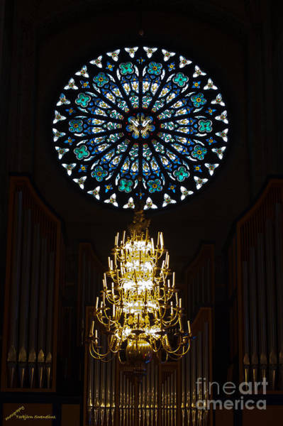 Photograph - Rose Window And The Ruffatti Organ by Torbjorn Swenelius