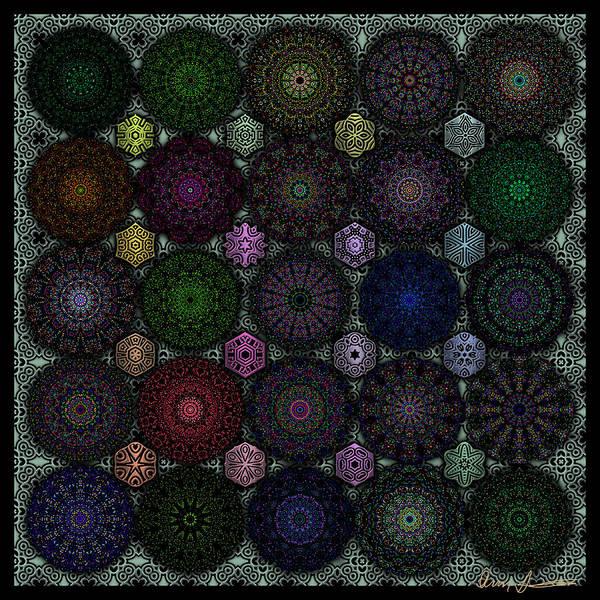 Rose Window Kaleidoscope Quilt Art Print
